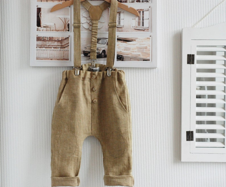 29899ed21 Baby boy pants Baby suspenders Baby boy outfit Baby linen   Etsy