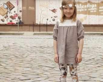 Girls dress Linen tunic dress Toddler girls tunic Natural linen dress Girls clothes Linen summer dress