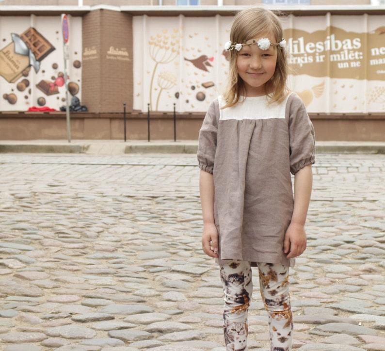 40d01aecda8 Girls dress Linen tunic dress Toddler girls tunic Natural | Etsy