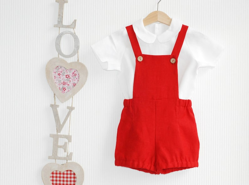 cbb7ae260df1 Baby boy girl overall Baby linen shirt Peter Pan collar shirt