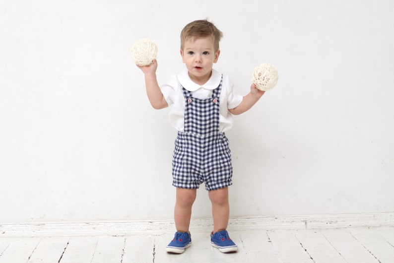 b627f58d5 Baby boy overalls Linen dungarees Baby boy linen shorts Baby