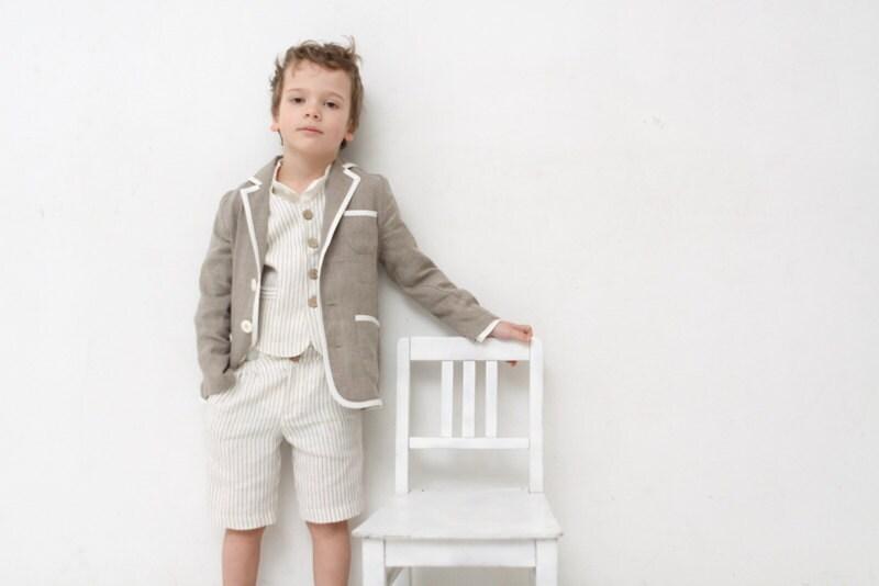fc4729507b593 Boys clothing Boys natural linen blazer Toddler boy jacket | Etsy