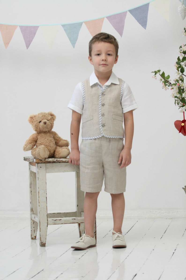 c808a00e2a1 Ring bearer outfit Toddler boy vest and shorts Wedding party