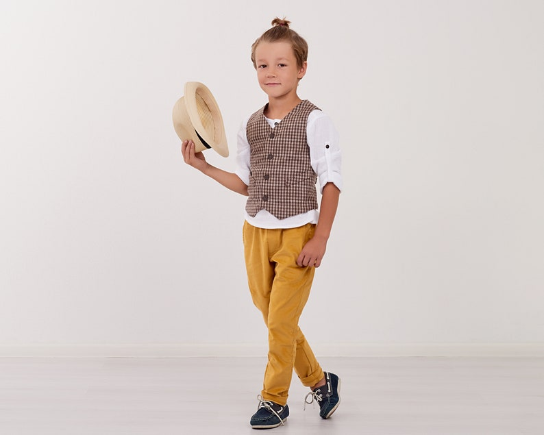 Per Bambini Ragazzi Tuta Tweed pagina ragazzo Festa Matrimonio Formale Blazer Gilet Pantaloni