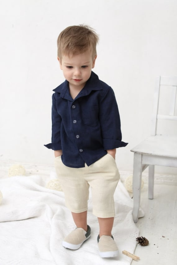e896d1d0328 Baby boy shorts Toddler boys pants Linen shorts Ivory Linen