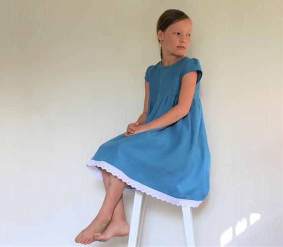 Mädchen Kleid Leinen Kleinkind Mädchen Geburtstagsparty Kleid | Etsy