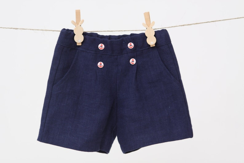0d96d3261497 Baby boy shorts Toddler boys pants Linen shorts Nautical party image 0 ...