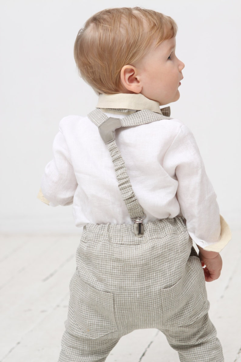6fadd718f Baby boy pants Baby suspenders Bow tie Baby boy outfit Baby   Etsy