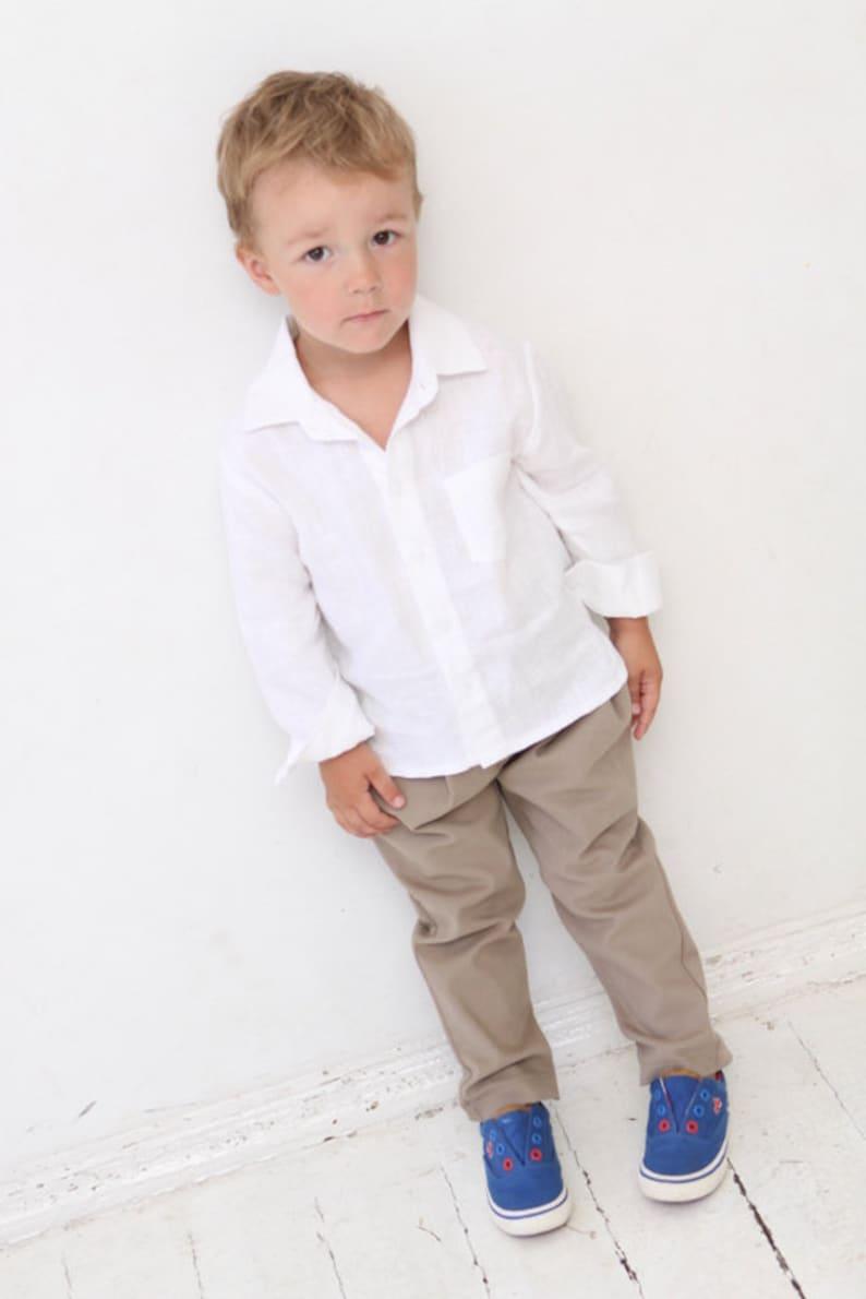 a67dd246 Baby Boy dress shirt Wedding party 1st birthday Baptism Long | Etsy