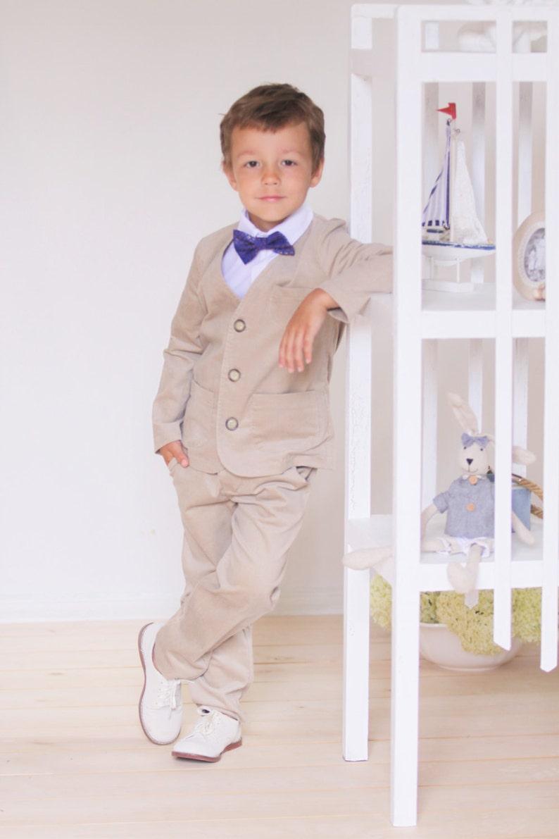 489b6789f07c Boys blazer Wedding party Ring bearer suit Velvet blazer Boys