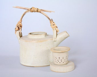 Tea Set Handmade Ceramic - Tea pot and cups inspired by Lucie Rie