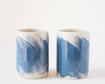 Ceramic Tumblers Handmade Set of 2