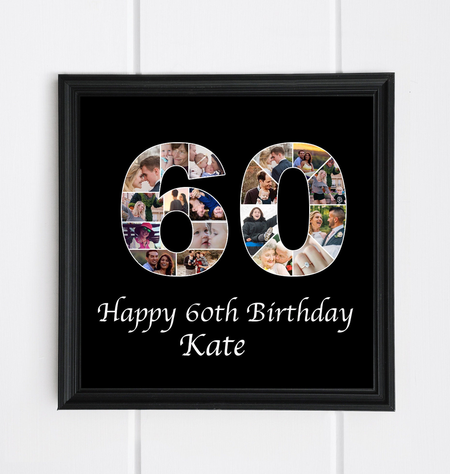 60th Birthday Gift For Dad Photo Collage