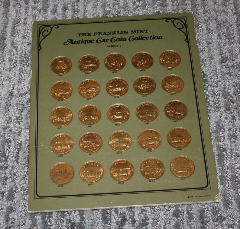franklin mint antique car coin collection