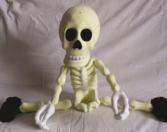 Dancing Skeleton Maroinette. Professional handmade Puppet art-doll. Dolls and Miniatures. Unique Puppet Made to order