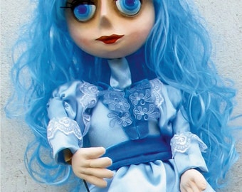 Hand Professional handmade Puppet art-doll. Dolls and Miniatures. Unique Puppet Made to order