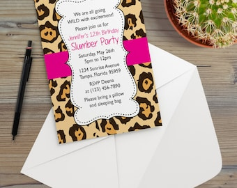 Leopard Invitation Etsy
