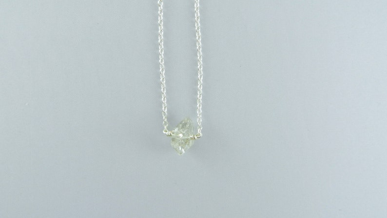 Herkimer Diamond Necklace Bridal Party Jewelry Tiny Necklace Gift for her Gemstone Necklace Sterling Silver Necklace Floating Necklace