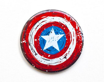 Captain America Button | Captain America Pinback Button | Captain America Shield | Captain America Accessory | Captain America Gift