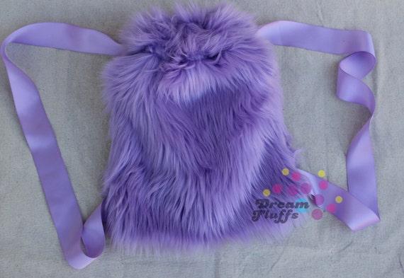 Drawstring Backpack Purple Charming Lavender Bags
