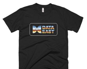 Data East Corporation T-Shirt Japanese Video Game Company Japan Sega Taito Karate Champ BurgerTime Karnov Kid Niki Capcom Video Game Shirt