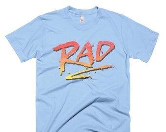 RAD 1980's BMX Bike Movie T Shirt Rad Racing Graphic Logo Tee