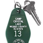 Camp Crystal Lake Key Tag, Friday the 13th Keychain, Jason Voorhees Key fob Hotel Key Cabin Key Camp Blood Motel Key Horror Movie F13