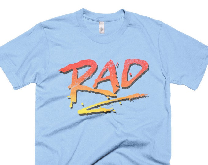 Featured listing image: RAD 1980's BMX Bike Movie T Shirt Rad Racing Graphic Logo Tee