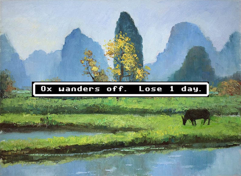 Oregon Trail Altered Thrift Store Art Repurposed Thrift Store image 0