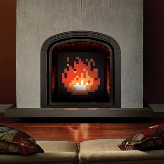 Original 8 Bit Fireplace Pixel Fireplace Zelda Fireplace Etsy
