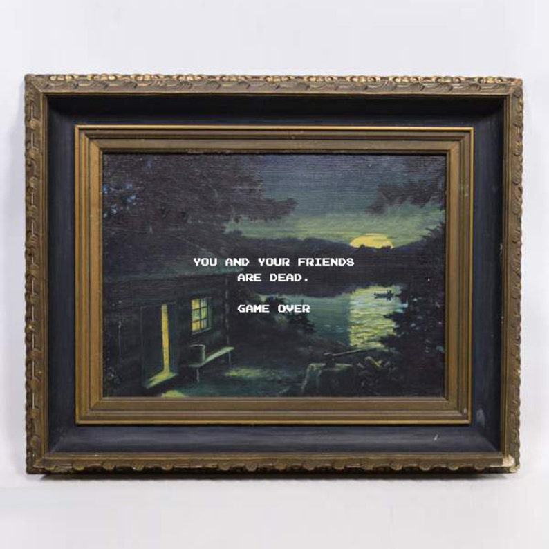 Friday The 13th Altered Thrift Store Art Repurposed Thrift image 0