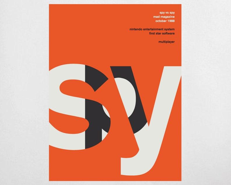 Swiss Print Remix  Spy vs Spy Nintendo Video Game Poster image 0