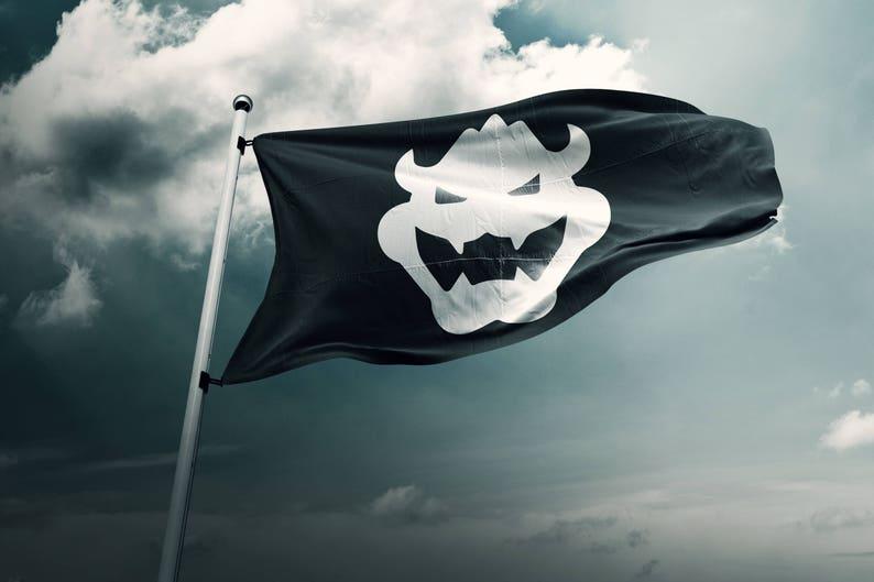60cd3ec3a4 Bowser Flag Outdoor Flag Super Mario Bros Mario Flag | Etsy