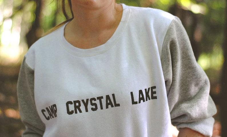 Camp Crystal Lake Sweatshirt Friday the 13th Jason Voorhees image 0