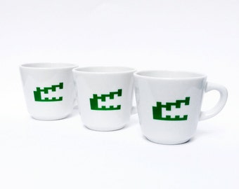 Atari Pitfall Mug Set, Kitchenware, Cups, Stemware, China, Pitfall Harry, 8-Bit, Pixel Art, Alligator, Crocodile, Activision, Atari Art
