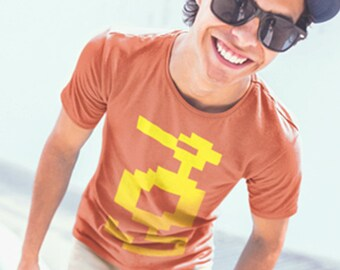 Atari Adventure T Shirt, Adventure Dragon, Atari Shirt, Atari Clothing, Atari Adventure, Pixel Art, 8-Bit, 8-Bit Art, Atari 2600, Nintendo