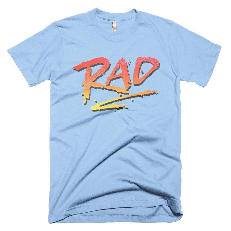 RAD 1980's Classic BMX Bike Movie T-Shirt Cru Jones Bart image 0