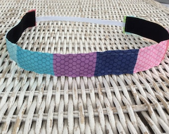Colorful Pattern Headband - Adult Headband - Sports Headband - No Slip Headband - Kids Headband - Fitness Headband - Running Headband