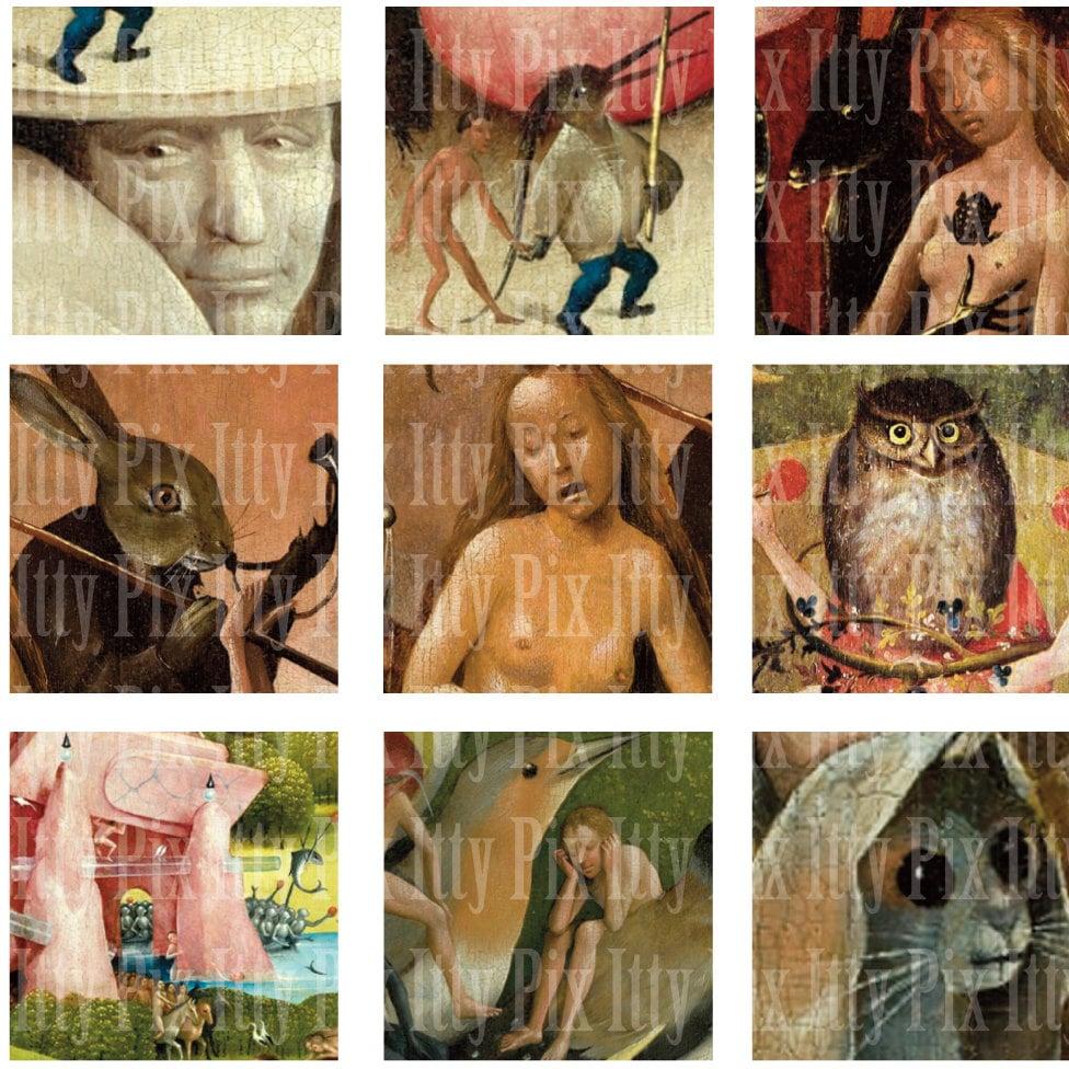 Hieronymus Bosch Digital Collage Sheet Inchies Garden of   Etsy