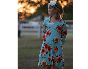 Girls Kourtney Knot Top, Tunic & Dress PDF Sewing Pattern instant download Sizes 1/2-14