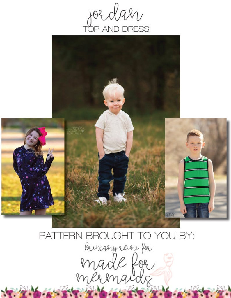 Jordan Top and Dress PDF Pattern image 0
