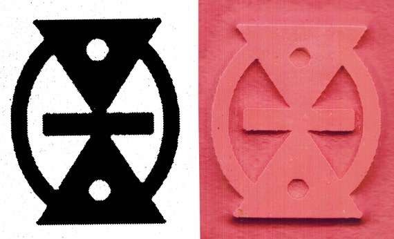 Tiny African Adinkra Mmere Dane Life Change With Time Etsy