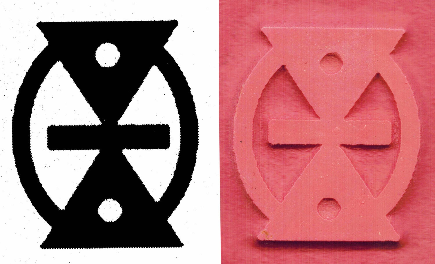 African Adinkra Mmere Dane Symbol Of Life Change With Time Polymer