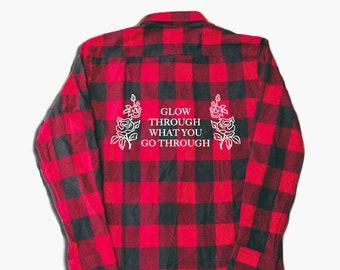 festival shirt - women's flannel - flannel shirt - flannel - graphic flannel - quote shirt -women's shirt - funny shirt - plaid shirt