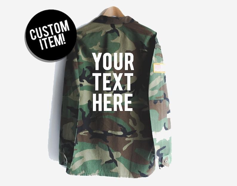 0663015a76366 Custom jacket custom camo jacket custom clothing custom   Etsy