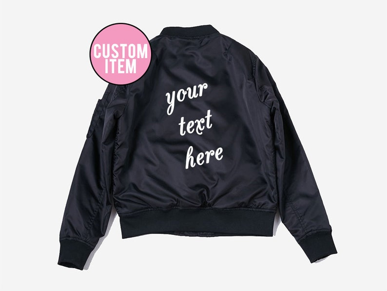 87a40758f6ed3 Custom Bomber Jacket - Custom bomber - Bomber Jacket - Bomber -  Personalized Jacket - Custom Gift - Jacket - Monogram - custom jacket