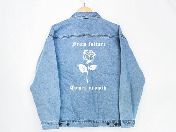 From Failure Denim Jacket Jean Jacket Denim Jacket Etsy