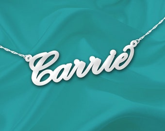 Cursive Name Necklace - Personalized Name Necklace - Handcrafted Designer - Sterling Silver Name Necklace - Dainty Name Gifts - Made in USA