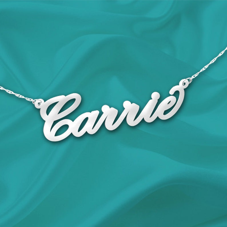 Cursive Name Necklace  Personalized Name Necklace  image 0