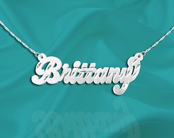 Sterling Silver Name Necklace - Personalized Name Necklace - Handcrafted Designer - Custom Name Necklace - Gift for her - Made in USA